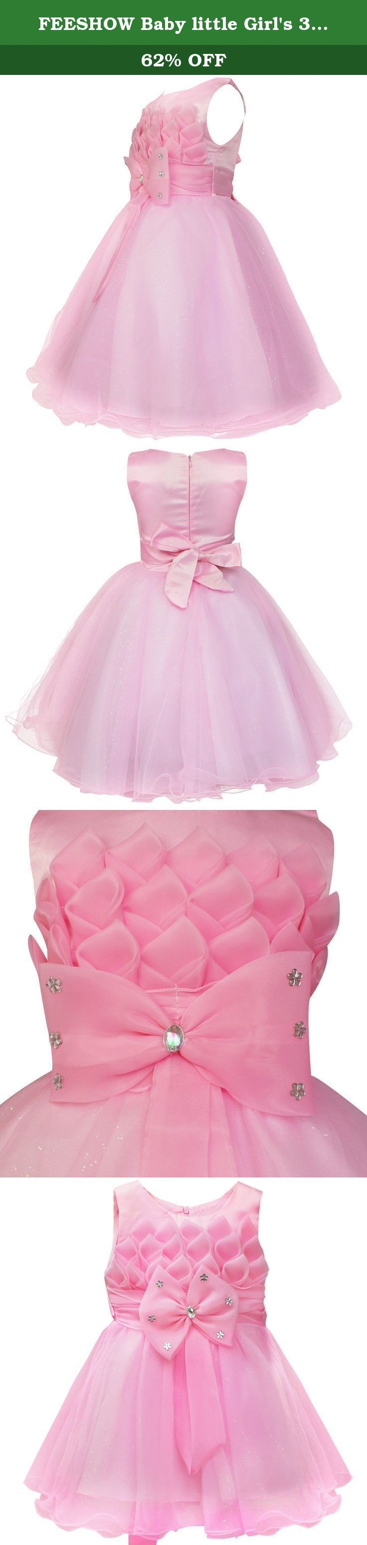 "FEESHOW Baby little Girl's 3D Lotus Flower Pageant Party Wedding Tulle Dresses Size 3T Pink. Set Include: 1pc Dress Condition: New with tag aterial: Polyester Color: As Picture Shown Size: 6 Months-6/Tag #70-120 Tag 70 6-12 Months: Chest(20.5""/52cm), Waist(20.0""/50cm), Dress Length(20.0""/50cm) Tag 80 12-18 Months: Chest(21.0""/54cm), Waist(20.5""/52cm), Dress Length(23.0""/58cm) Tag 90 2T: Chest(22.0""/56cm), Waist(21.0""/54cm), Dress Length(24.0""/60cm) Tag 100 3T: Chest(24.0""/60cm)..."