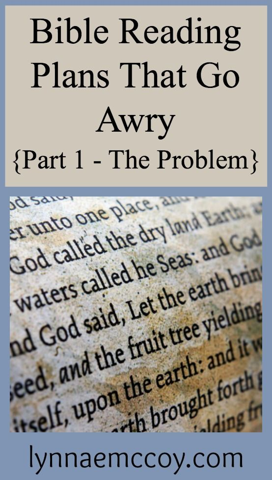 Daily Bible Reading Plan Problems - Can You Relate? - LynnaeMcCoy.com