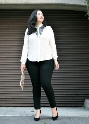 Looks para ir al trabajo formal y a la moda para chicas con curvas