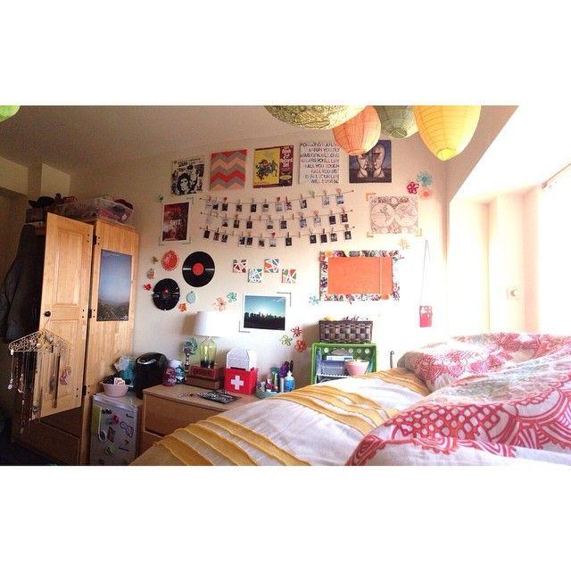 colorful dorm room!  dormcollege  Pinterest  Dorm  ~ 153601_Innovative Dorm Room Ideas