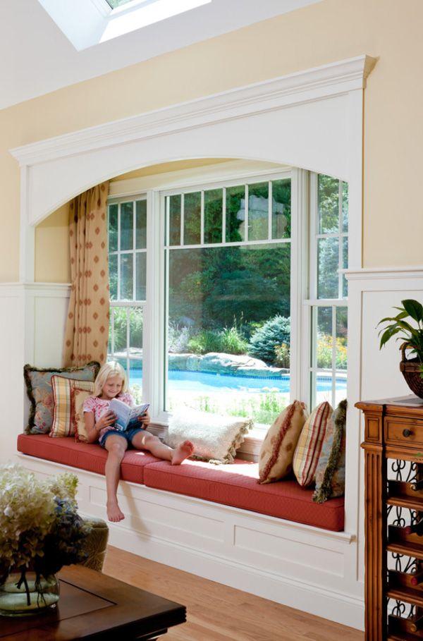 I like the trim above window to dress up the window seat