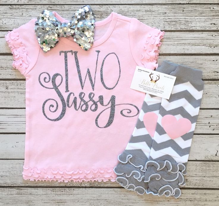 A personal favorite from my Etsy shop https://www.etsy.com/listing/475095572/two-sassy-second-birthday-shirt-two