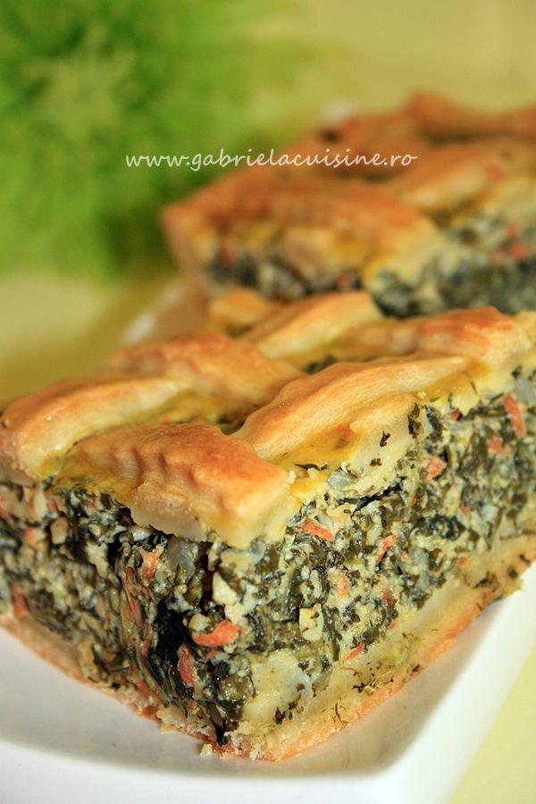 Placinta cu spanac si aluat de casa/Spinach pie with home made dough | gabriela cuisine - recipes