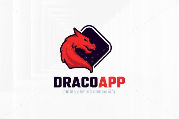 Dragon App Logo Template by LiveAtTheBBQ on @creativemarket