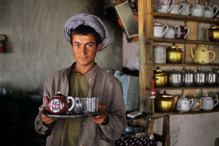 Photo by Steve McCurry- look at the teapot! AFGHN-12350