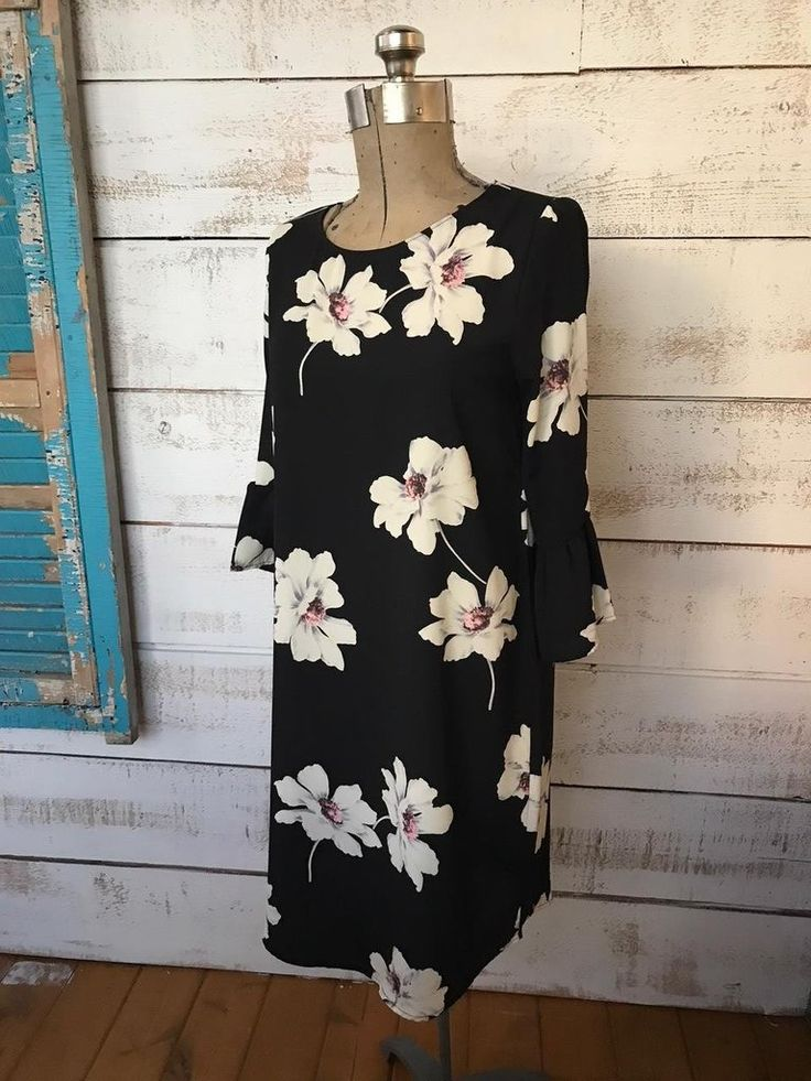 Black Floral Dress  The Passionate Home - Langley