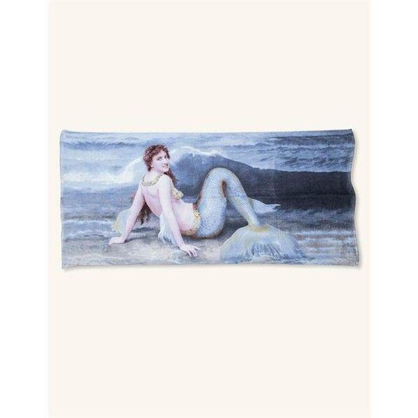 Mermaid Beach Towel | Victorian Mermaid Towel ($30) ❤ liked on Polyvore featuring home, bed & bath, bath, beach towels and mermaid beach towel