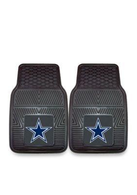 Fanmats Nfl Dallas Cowboys 2-Piece Vinyl Car Mat Set - Black - One Size