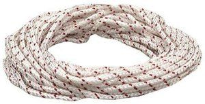 Lehigh Group BPE1050W 50' White & Red Polypropylene Diamond Braid Rope, Red and White by Lehigh. $16.37. Lehigh Group BPE1050W 50' White & Red Polypropylene Diamond Braid Rope, Red and WhiteLehigh Group BPE1050W 50' White & Red Polypropylene Diamond Braid Rope, Red and White Features:; Polypropylene rope; Diamond braid; Best all purpose, boating, and flagpole rope; Grips around cleats better than nylon; Resists rot, mold, oil, gasoline and other harsh chemicals;...