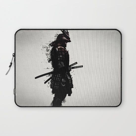 #samurai #warrior #sword #katana #japan #japanese #spatter #dark #inkspatter #digital #illustration #laptop #sleeve