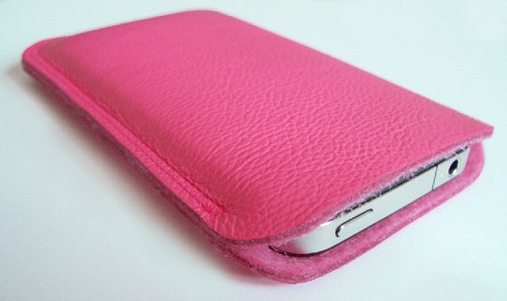 iPhone, cell phone case, iPod, pink genuine leather & wool feltCell Phones Cases, Cases Ipods, Pods Cases, Cell Phone Cases, Phones Covers