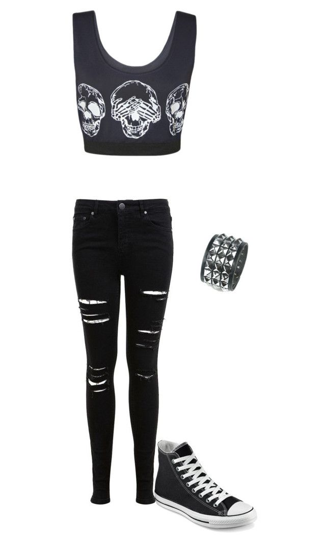 """Untitled #125"" by lovelylittleone on Polyvore featuring WearAll, Miss Selfridge and Converse"