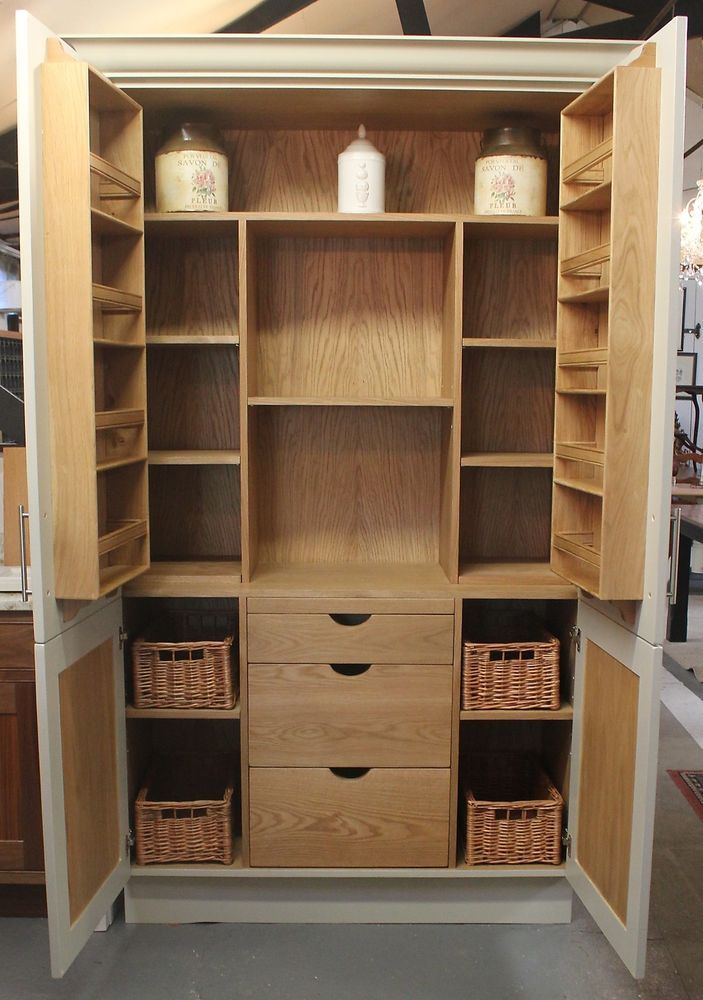25 best larder cupboard images on pinterest kitchen for Oak kitchen larder units