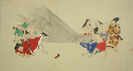 Juxtapoz Magazine - Drawings of Men Farting from the Japanese Edo Period (1603-1868)