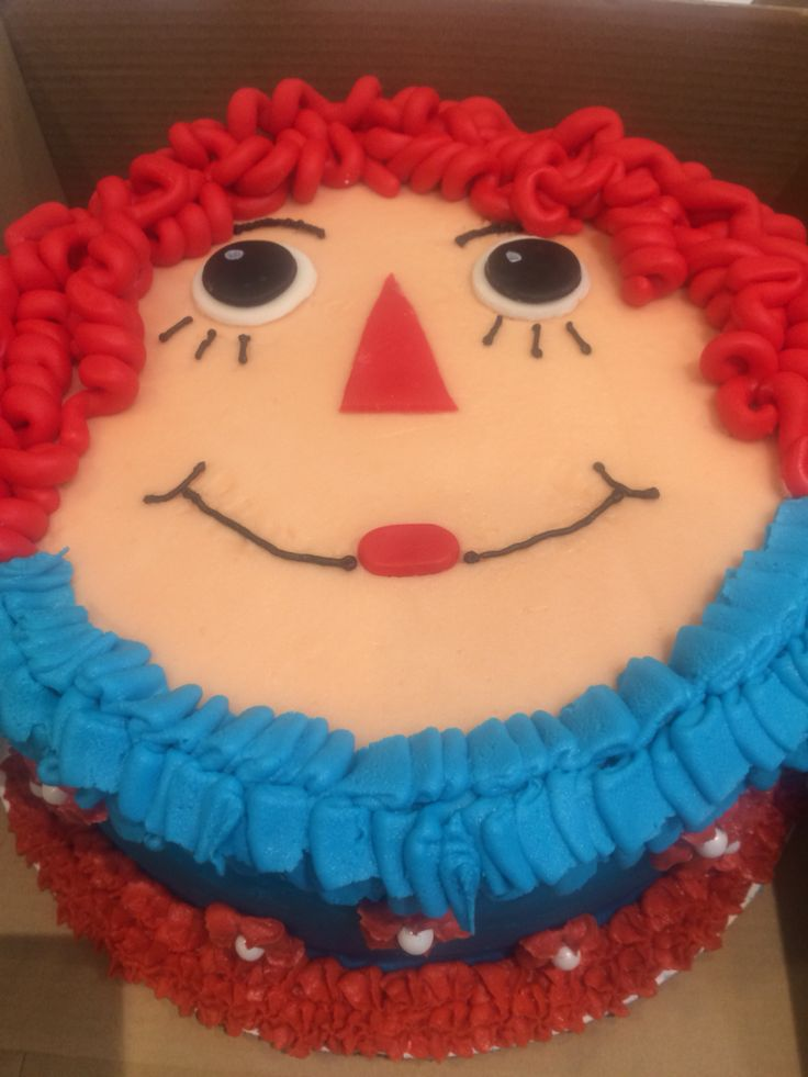 10 Best Raggedy Ann Cake Images On Pinterest Anniversary Cakes
