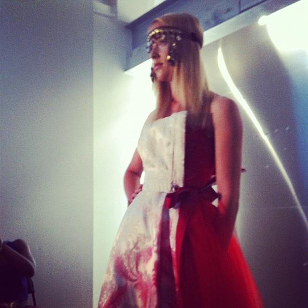@BreeynMcCarney amazing first look! (model: Danielle w/ Sutherland)