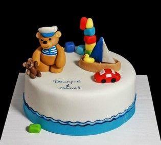 Торт Мишка моряк