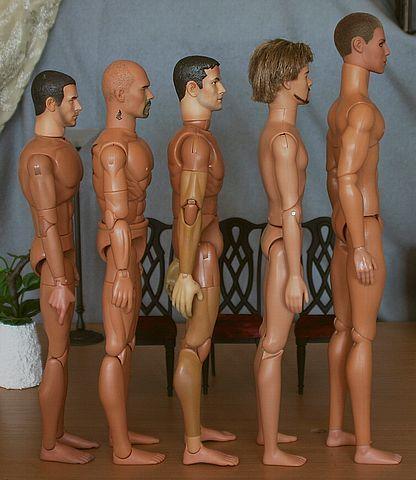 1:6 male doll comparison