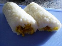Indonesian Food. Lemper. Sticky Rice Rolls filled with Chicken. (Recipe in Dutch) Too nice xS