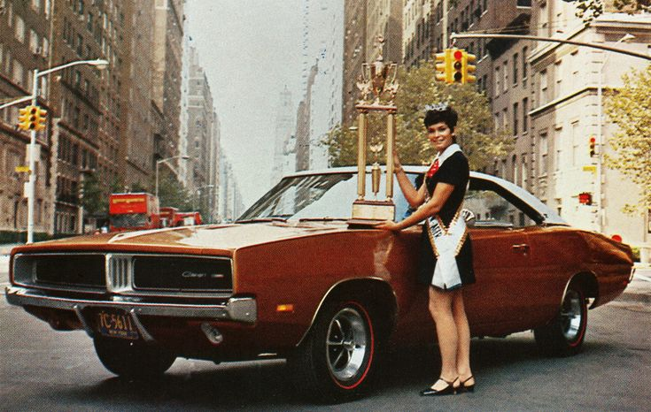 1969 Dodge Charger & Miss American Teen-Ager