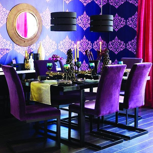 Beautiful Purple Dining Room Color Design Ideas Home Gallery