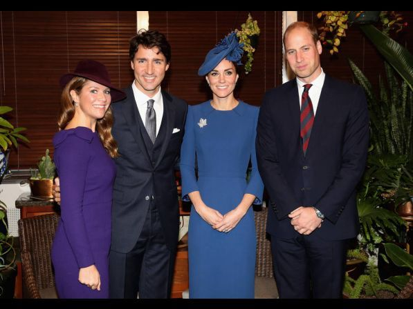 Sofie and Justin Trudeau ... Kate and William ... Royal visit to Canada, 9-24-16