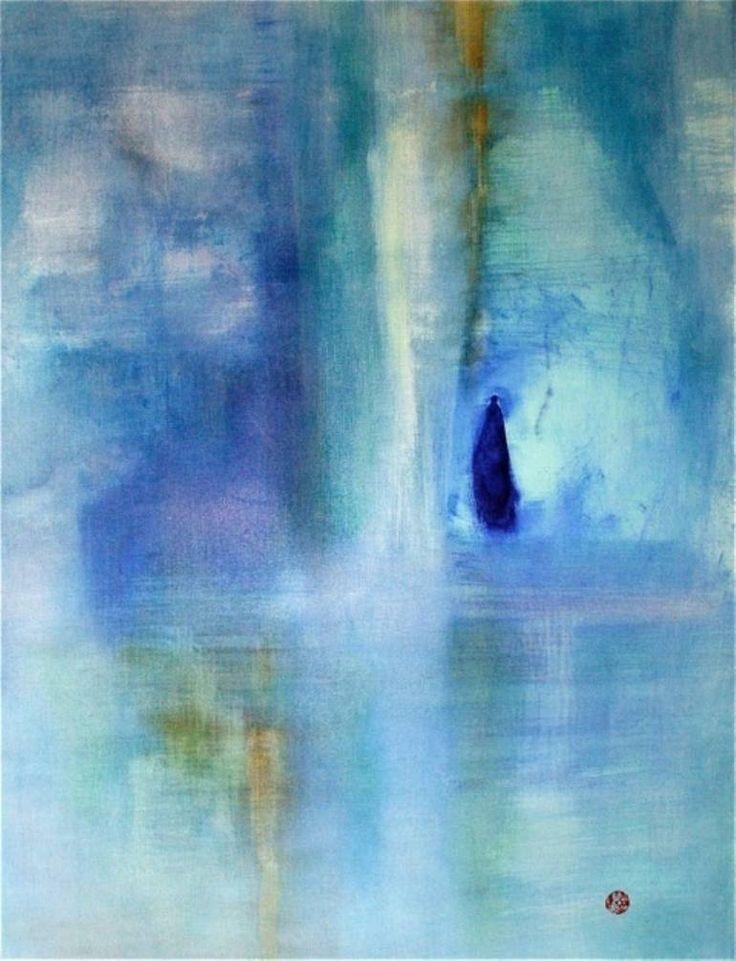 Sherri Bustad; Painting, OCEAN O F PRIMARY BLUE