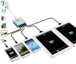 Need to get your life organized?? SOLUTION- Zap 5-Port USB Smart Rapid Charger