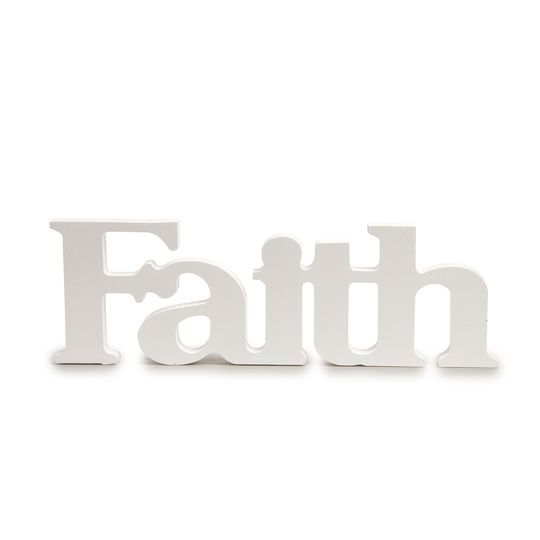 Faith White Wooden Word by ArtMinds®