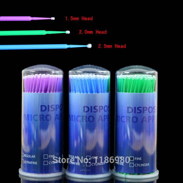 Nouveau 100 pcs Cils Extension Micro Brosses Individuelles Jetables Applicateurs Mascara meilleure affaire 1 pack