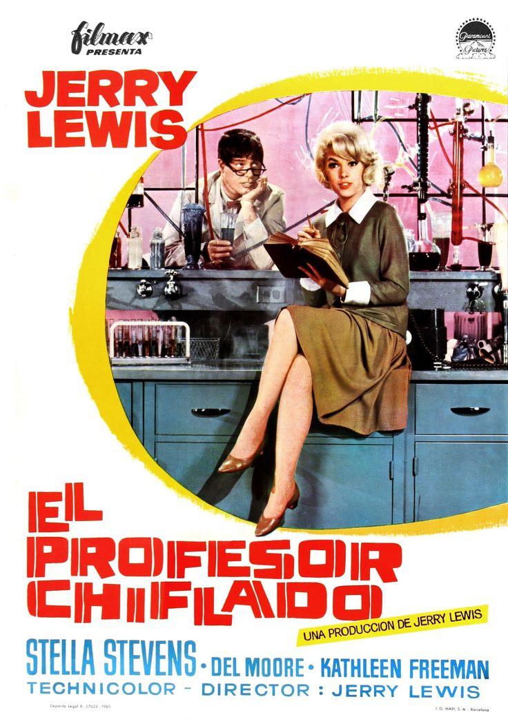 El Profesor Chiflado El Profesor Chiflado Afiche De Cine Peliculas De Comedia