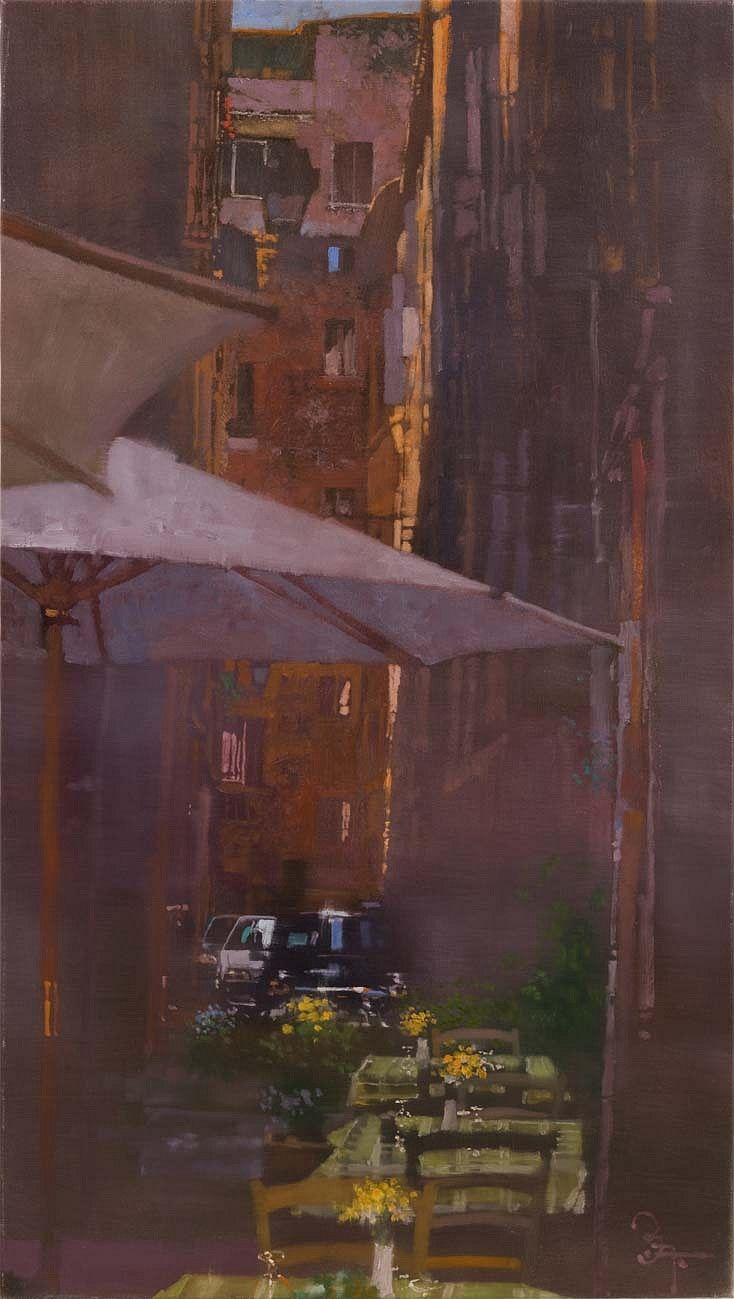 Bernie Fuchs (1932 - 2009) | Ristorante Umbrellas | Telluride Gallery