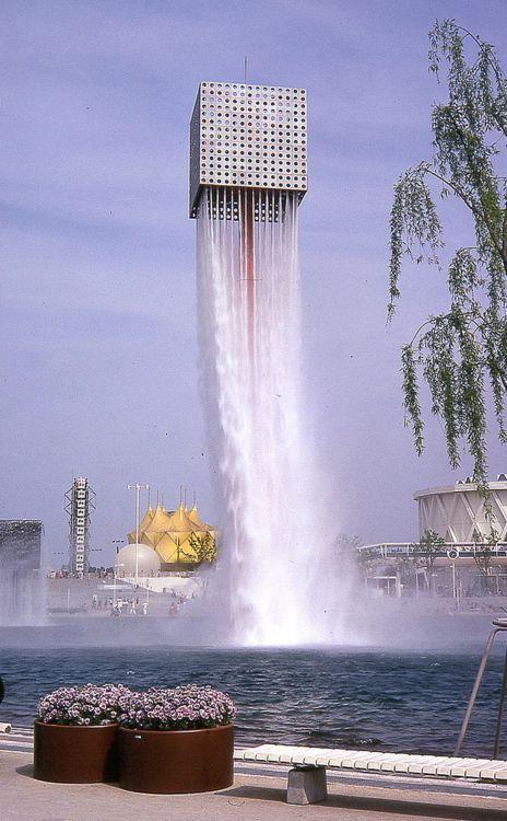 Defying gravity? Fountain by Isamu Noguchi  #Architecture