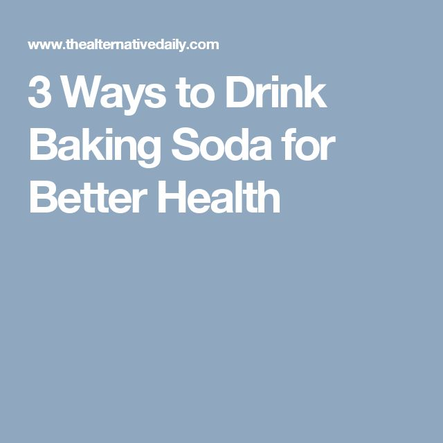 3 Ways to Drink Baking Soda for Better Health
