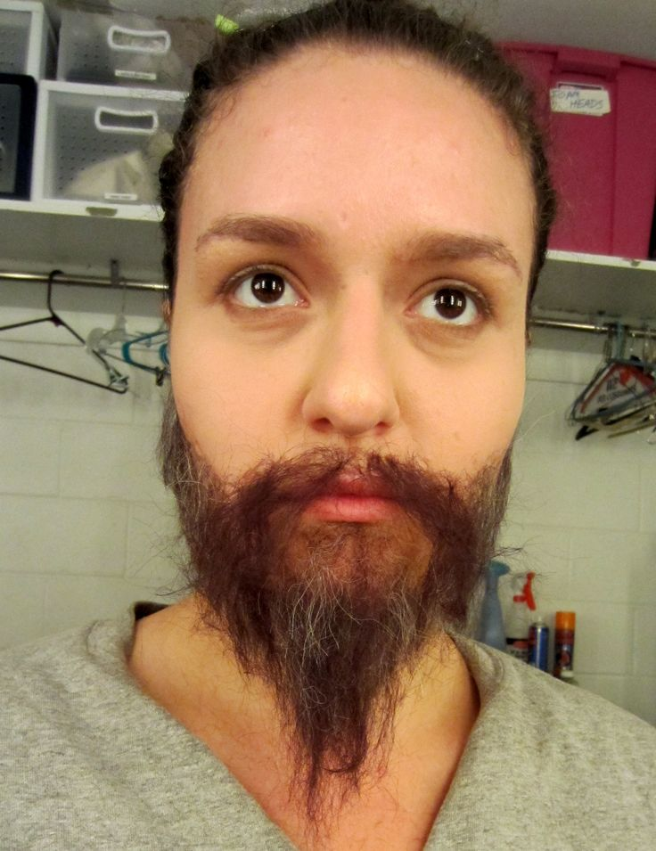 Crepe Hair Beard stage 5 Started to clip beard  Colors used: Dark Brown, Black and brown/grey