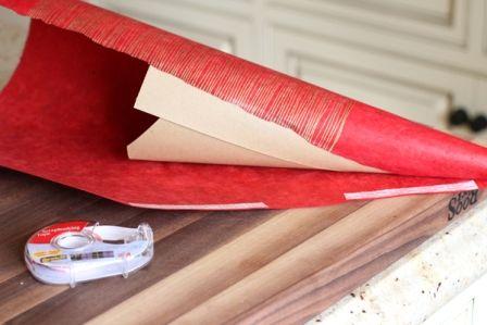 сделать своими руками елку из оберточной бумаги