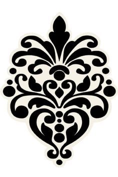 damask stencil printable free | printable damask design stencils print these free images of damask ...