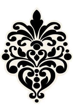 damask stencil printable free | printable damask design stencils print these free images of damask ...