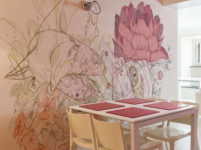Carta da parati lavabile in vinile con motivi floreali CG6 by GLAMORA design Celina de Guzman