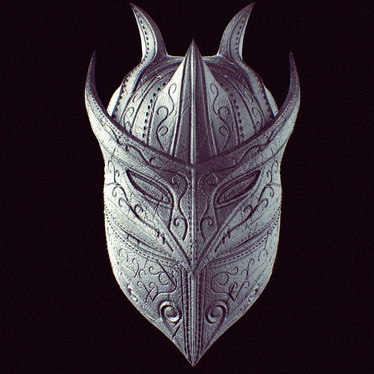 Raven Mask, Daniel Paz on ArtStation at https://www.artstation.com/artwork/n6N91