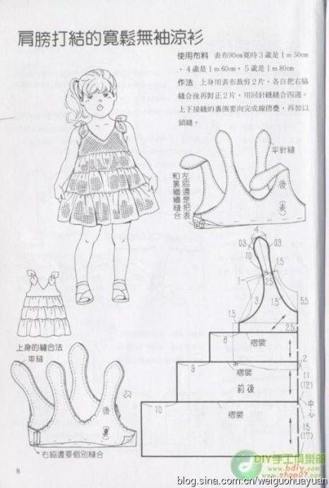 儿童服装图样制作分享,男孩女孩都有_Jackie布布_新浪博客