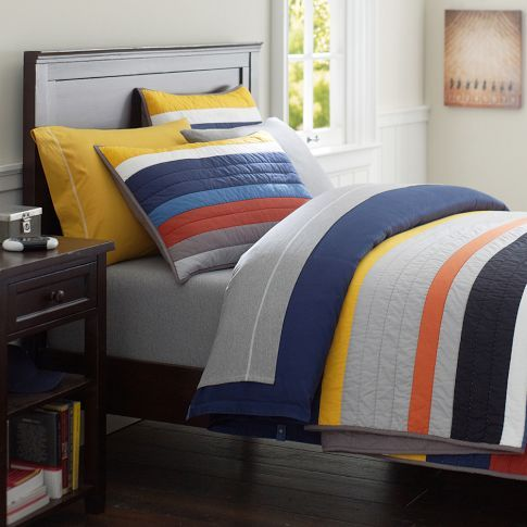 Mvp Stripe Quilt Quilts Striped Quilt Sports Quilts