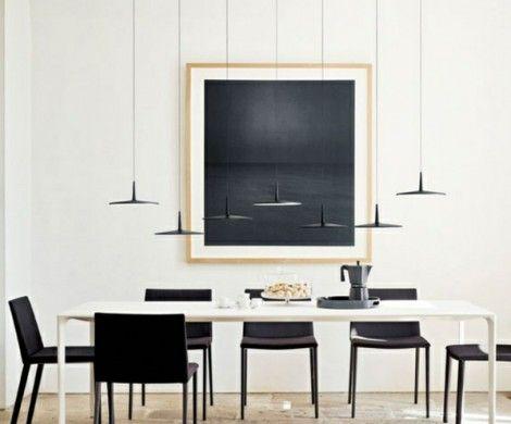 Esszimmer Interieur Pendelleuchten Design Futuristisch