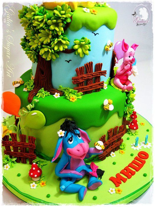 Pooh Birthday Cake Design : 195 best Winnie The Pooh cakes, cupcakes and cookies ...