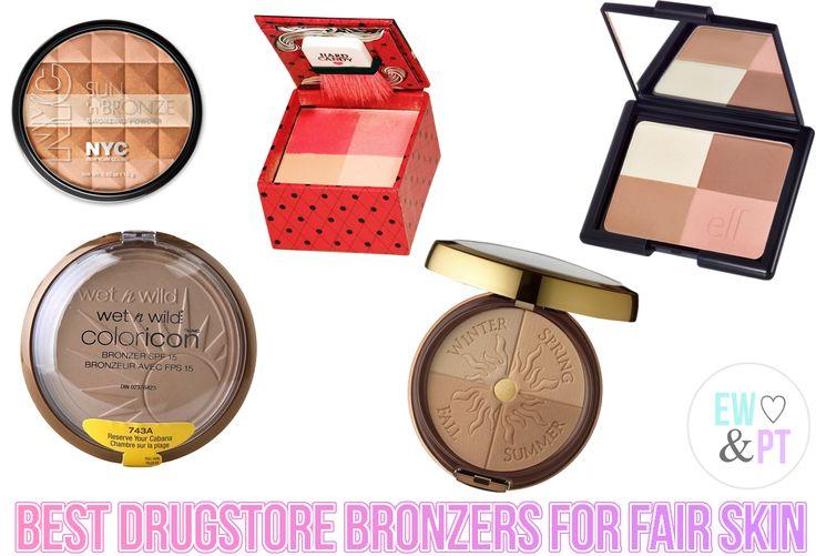 Best Drugstore Bronzers for Fair Skin // eyeliner wings & pretty things