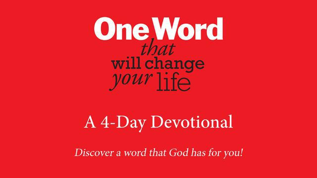 I just finished day 4 of the @YouVersion plan 'One Word That Will Change Your Life'. Check it out here: