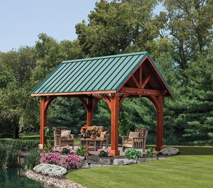 Outside Metal Shelter : Images about outdoor patio shelter large beam on