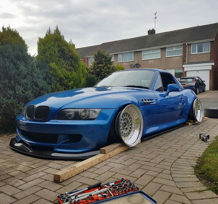 Bmw Z 3 For Sale: BMW Z3 M Roadster Blue Slammed