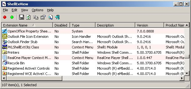 ShellExView 64bit 1.95 Shell Extensions are in-process COM objects which extend the abilities of Windows operating system. Most shell extensions are automatically installed by the operating system, but there are also many other applications that install additional shell extension components. For example: If you install WinZip on your computer, you'll see a special WinZip menu when you right-click on a Zip file. #computers #software #freeware