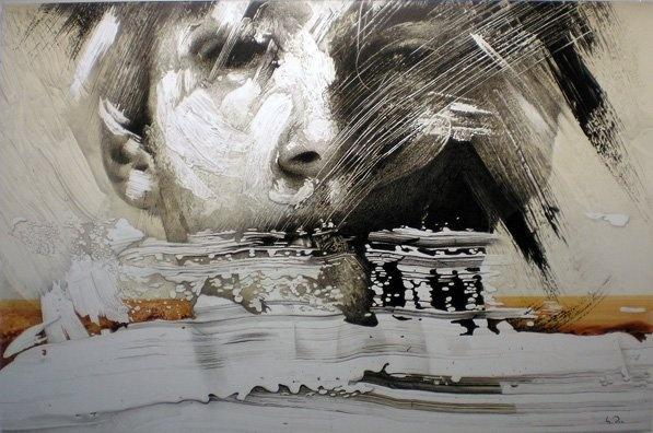El rostre 6, oleo sobre lienzo. 100x150